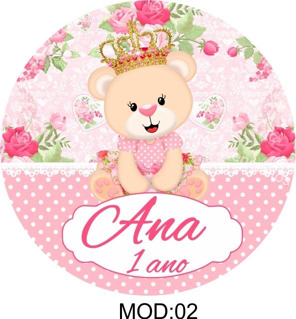 Adesivo Azulejo Pastilha Resinada ~ 100 Rótulos Adesivo Ursinha Princesa Personalizados Latinhas R$ 15,99 em Mercado Livre