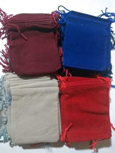 100 sacos de terciopelo 7*9cms para joyería joyas 4 colores