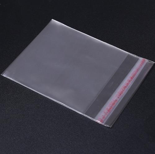 100 saquinhos 10cm x 10cm brownie transparente lacre adesivo
