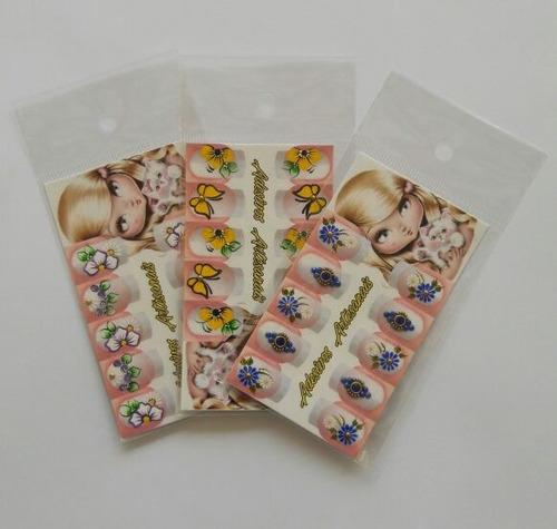 100 saquinhos de embalagem para adesivo de unha artesanal