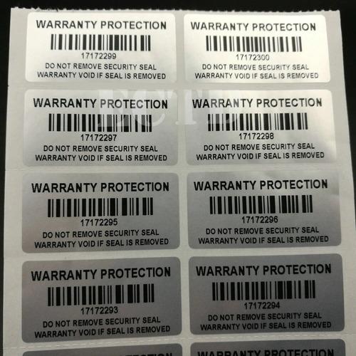 100 sellos adhesivos seguridad numerados void garantía