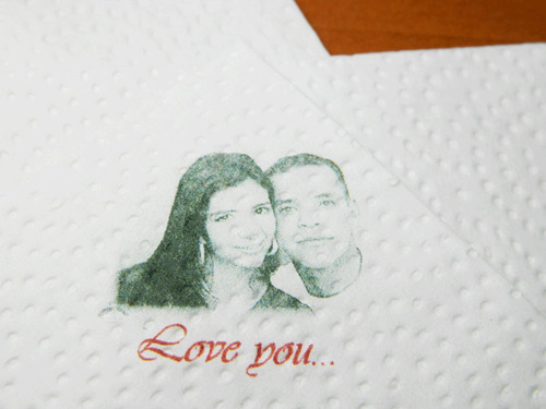 100 servilletas personalizadas full color