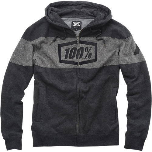 100% sindicato de hombres con cremallera con capucha heather