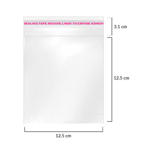100 sobres celofan cd #6 adhesivo 12.5x12.5 paq. c/100