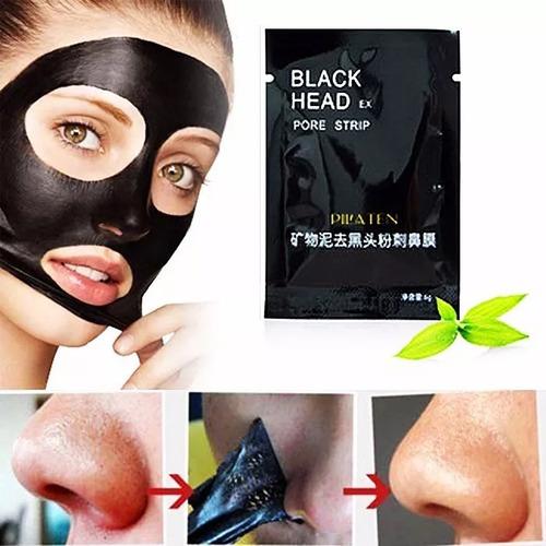 100 sobres mascarilla negra  pilaten 6gr acne puntos negros