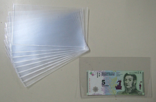 100 sobres plásticos para billetes 10.5 x 19 marca vk