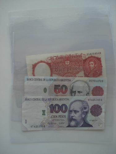 100 sobres plásticos para billetes marca vk 10 x 19 cm