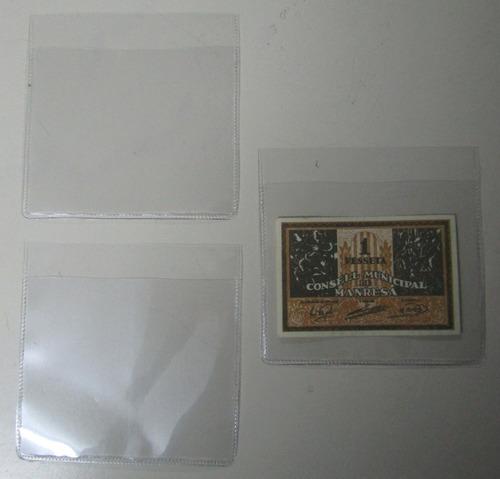 100 sobres plásticos protectores billetes 10 x 10 marca vk m