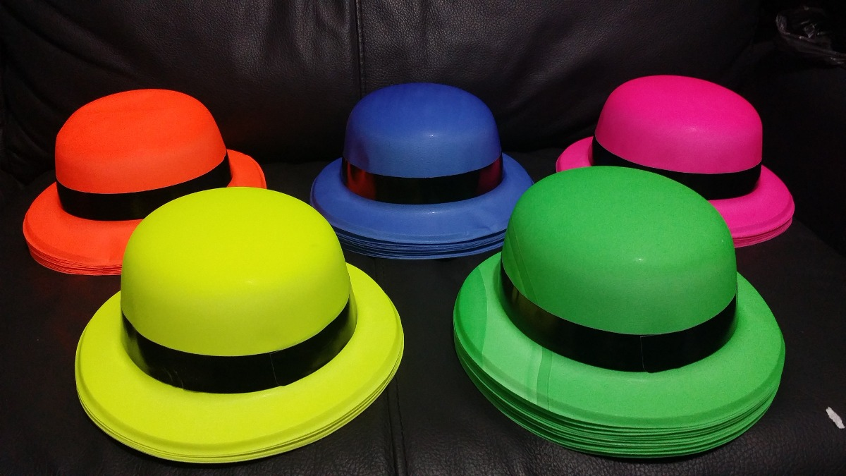 100 sombrero bombin neon colores fiesta batucada boda barato. Cargando zoom. eeca25801d5
