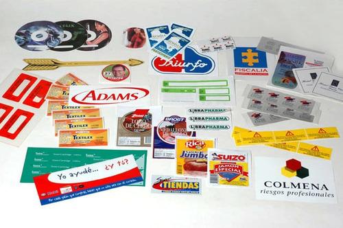 100 stickers souvenir - publicitarios 6x4cm + diseño gratis