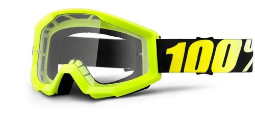 100% strata lente clara juventud mx goggles amarillo de neón