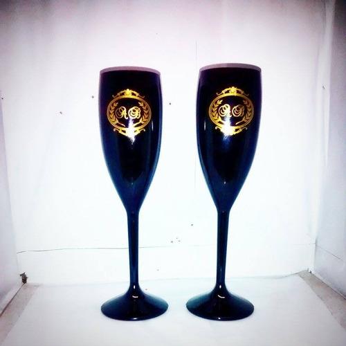 100 taça champagne noivado acrílico  r$ 3,20 un. caneca copo