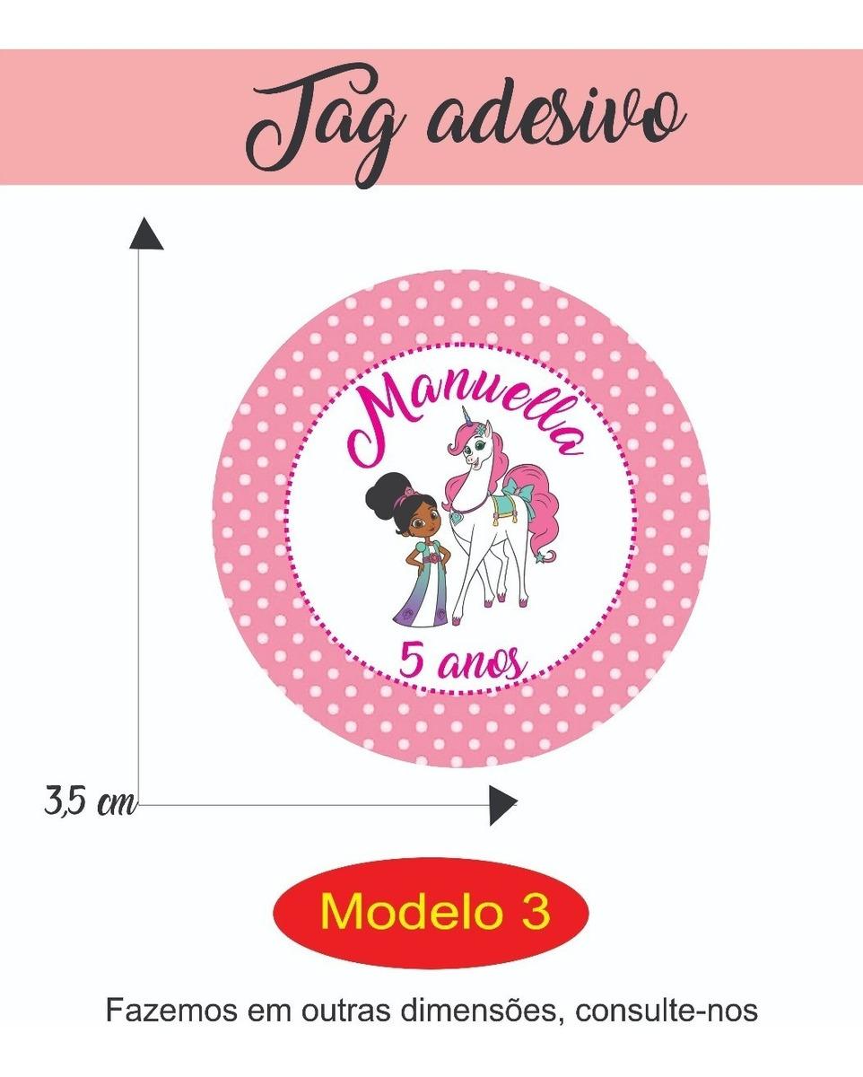 100 Tags Adesivo Personalizados Tema Princesa Nella R 16 00