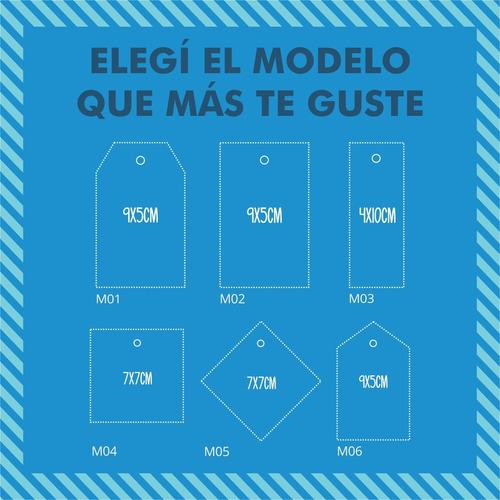 100 tarjetas colgantes tags para prendas + diseño gratis