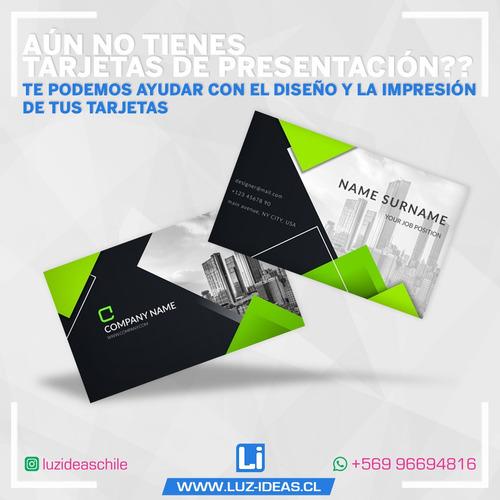 100 tarjetas de presentación 90x55 mm