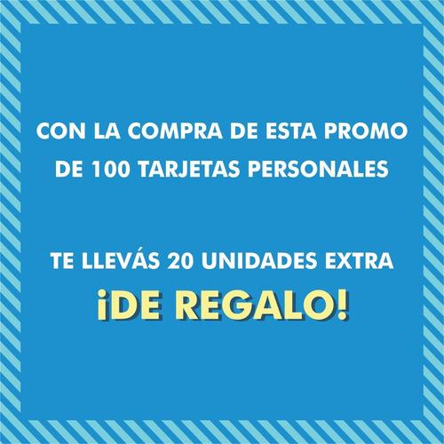 100 tarjetas de presentación color 9x5 300g + diseño gratis