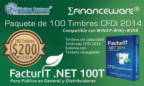 100 timbres folios cfdi 3.3 facturación electrónica xml