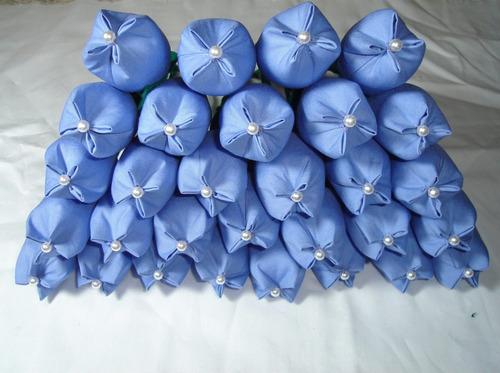 100 tulipas em tecido (lembrancinha)