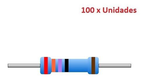 100 unidades resistor 1k ohm 1/4w 1% arduino esp8266 esp01