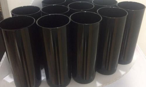100 vasos de 12 onz policarbonato negro