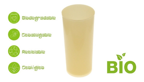100 vasos  ecologico biodegradable  12oz vaso high ball maiz