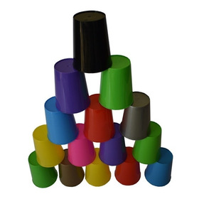 100 Vasos Plasticos  De Colores Nuevo Modelo