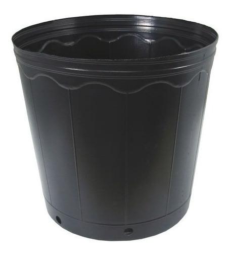100 vasos pote preto para mudas plastico 3 litros