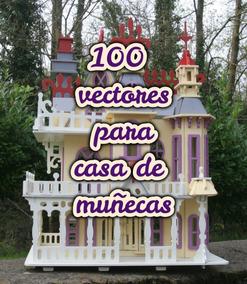 05081607ed15 100 Vectores Casa Muñecas Muebles Router Corte Laser Cnc