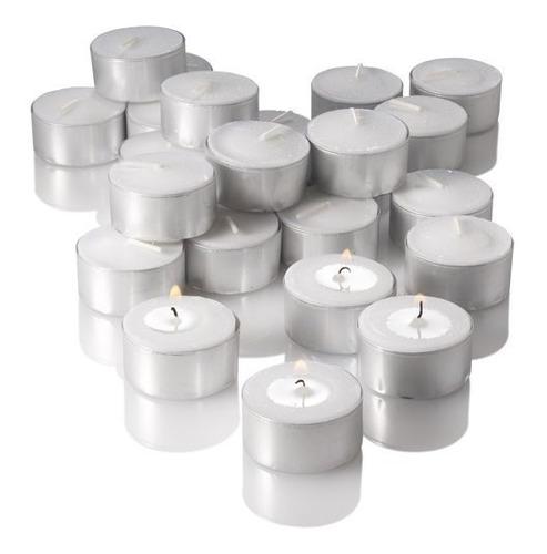 100 velas tealight candles de parafina 7 horas de duración