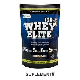 100% Whey Elite 5lbs Proteína - L a $31800