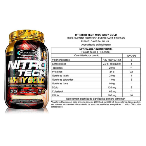 100% whey gold nitrotech 2.2lbs