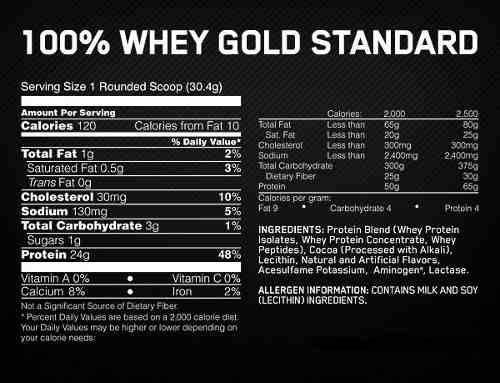100% whey gold standard proteina 10 lbs  on