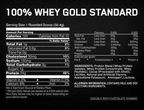 100% whey gold standard proteina 5 lb on la + vendida en usa