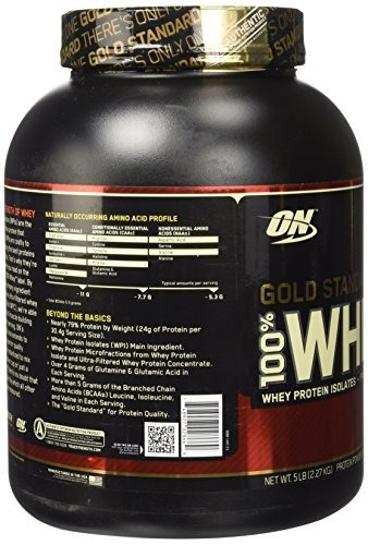 100% whey gold standard proteina 5 lb on la + vendida en usa