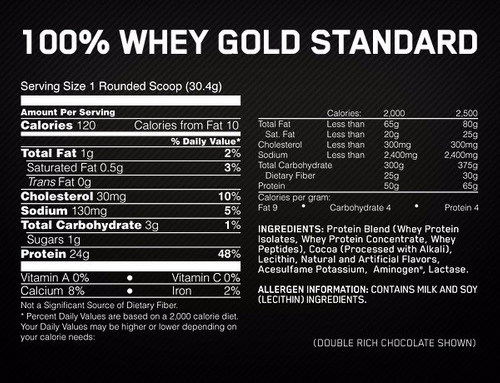 100% whey gold standard proteina 5lb de on en muscleproducts