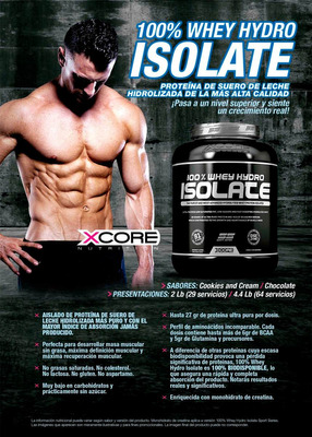 100% whey hydro isolate ss 5 lb - xcore europa. p.normal 340