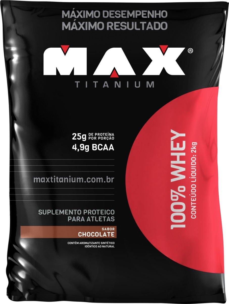 73d95c9d5 100% whey max titanium 2kg proteína melhor custo benefício. Carregando zoom.