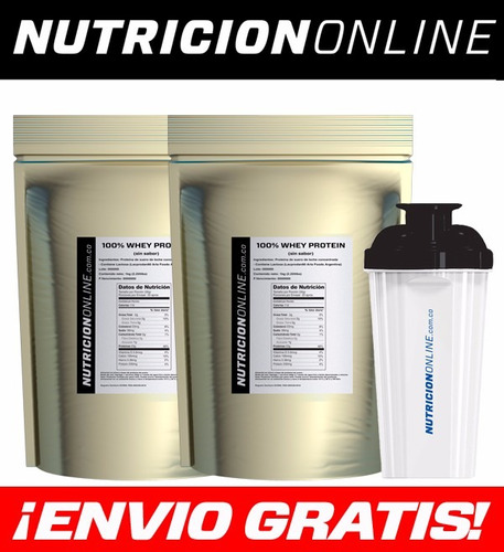 100% whey protein concentrate (2kg/4.4lbs) proteína limpia