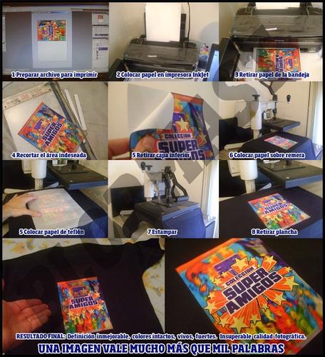 100 x papel transfer ropa tela oscura a4 + 20 teflonados a4!