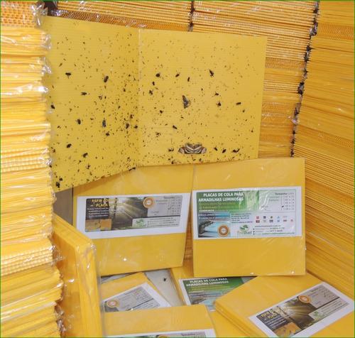 1000 armadilhas adesivos p/ supermercados matar moscas 47x22