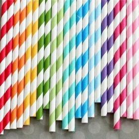 1000 Canudos De Papel Para Bebidas Decorativo E Festa - Off