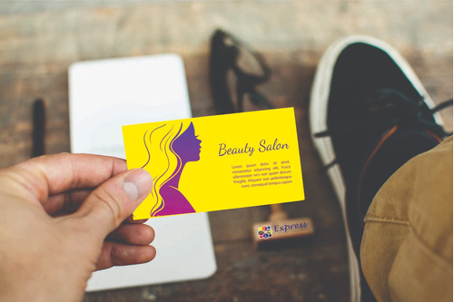 1000 cartão de visita colorido frente confira