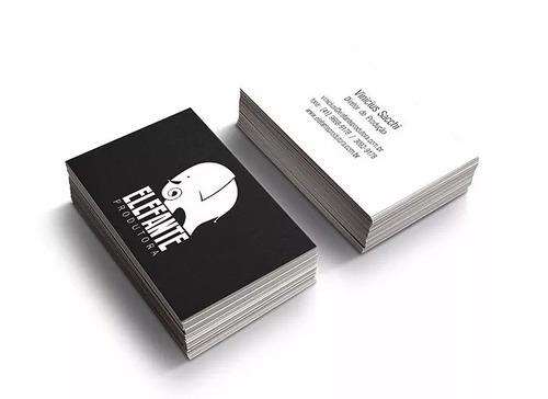 1000 cartão de visita couchê 250g + arte personalizada