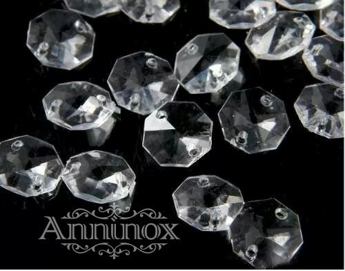 1000 castanhas 14mm cristal acrílico - melhor preço