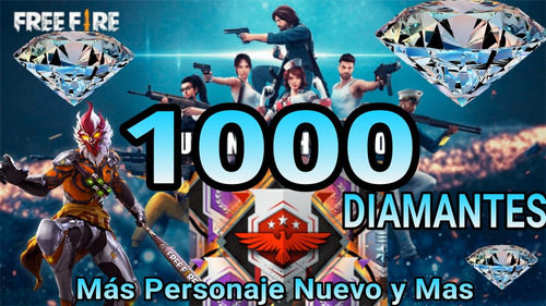 1000 diamantes free fire y  premios