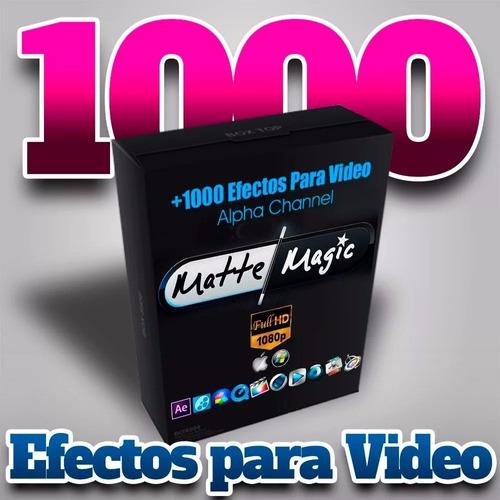 1000 efectos para video 1080p super paquete mas regalos