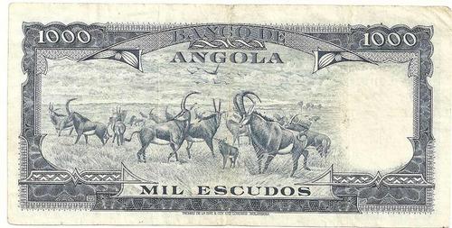 1000 escudos - angola - américo tomás - 1970 - circulada