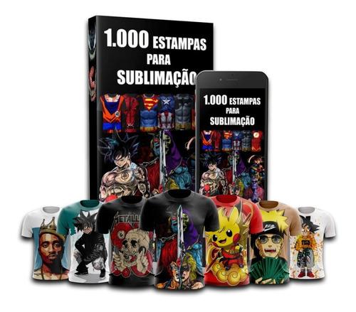 1000 estampas para sublimação mais brindes 50 mockup psd