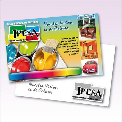 1000 flyers volantes 1/2 a 45 ¢ c/u presentacion todo color!