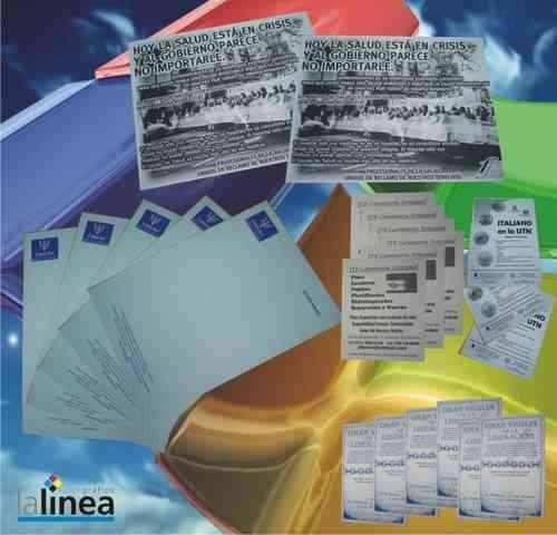 1000 folletos b&n 10x15 almagro en el acto de 9 a 21hs